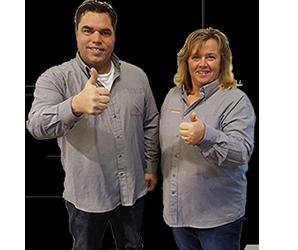 Productspecialisten Marcel en Sandra